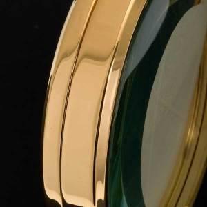 Ostensoir de chapelle laiton doré 8.5 cm diamètre s4
