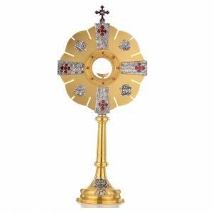 Ostensoirs, Reliquaires  en métal: Ostensoir symboles évangiles