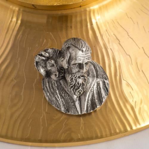 Ostensorio bronzo fuso Evangelisti gigli h 55 cm s9