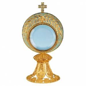 Ostensorio con luneta extraíble de plata 800, 23cm s1