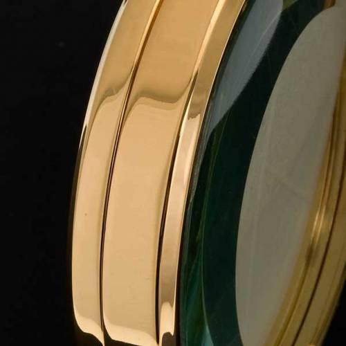 Ostensorio teca ottone dorato diam cm 8,5 s4