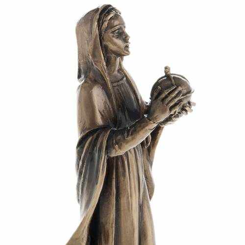 Our Lady in bronzed metal 16cm s2