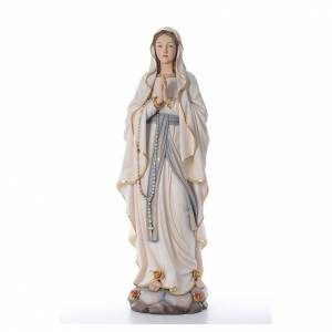 Hand painted wooden statues: Our Lady of Lourdes wooden statue painted