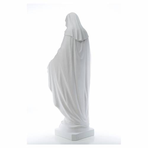 Our Lady of Miracles, 130cm in reconstituted Carrara marble s3