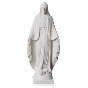 Reconstituted marble religious statues: Our lady of Miracles statue made of reconstituted Carrara