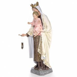 Our Lady of Mount Carmel wooden paste 140cm, fine finish s2
