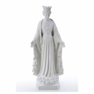 Our Lady of Purity statue in reconstituted marble 70 cm s1