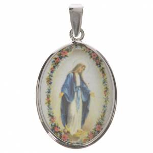 Oval medal in silver, 27mm Miraculous Medal s1