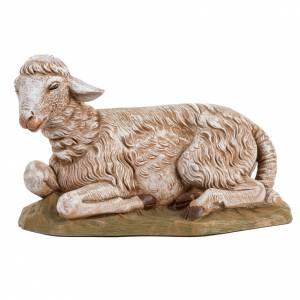 Animales para el pesebre: Oveja sentada para pesebre 45cm, Fontanini
