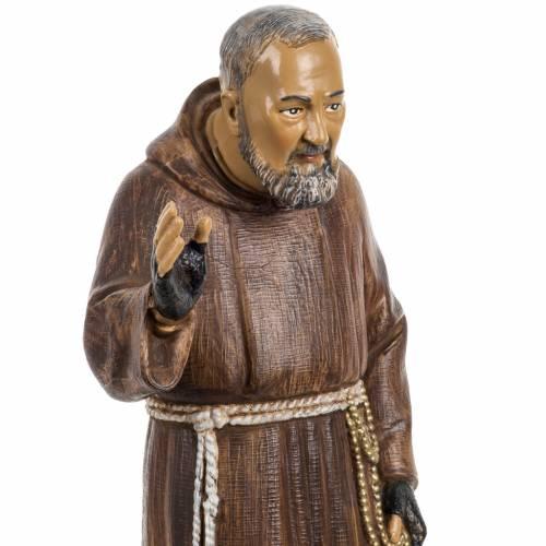 Padre Pio 30 cm Fontanini tipo legno s3