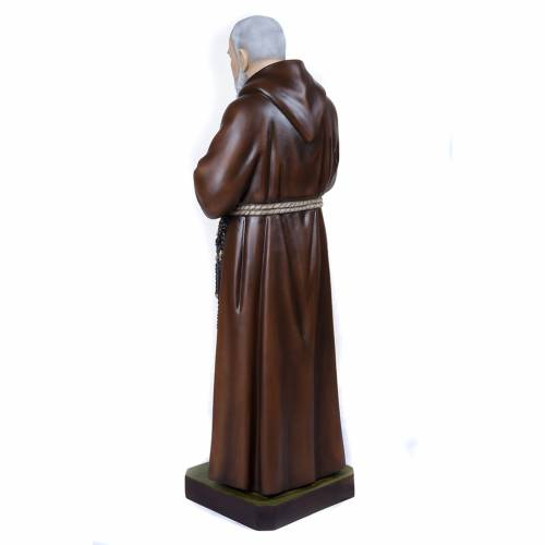 Padre Pio of Petralcina statue, 110 cm in painted marble dust s9