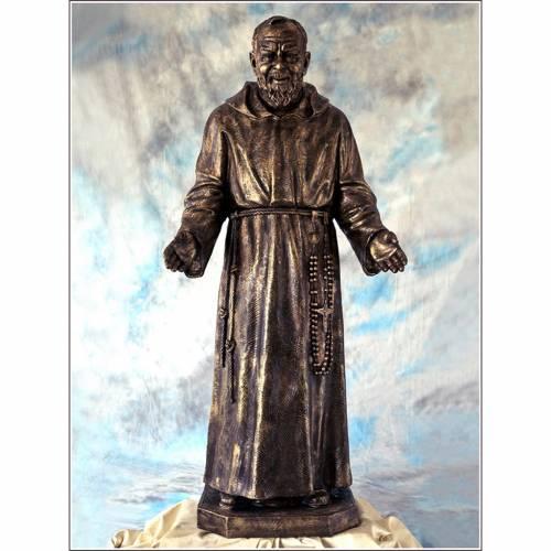 Padre Pio vetroresina Landi 150 cm bronzo s1