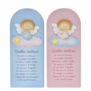Bassorilievi vari: Pala bassorilievo legno Stella Stellina angelo