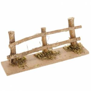 Ponts, ruisseaux, palissades pour crèche: Palissade en miniature crèche 15x3.5 cm