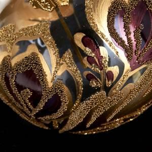Palla per albero di Natale vetro oro fucsia 6 cm s3