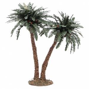 Palmier double en résine et liège h réelle 25 cm s1