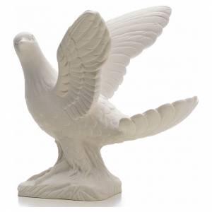 Paloma alas abiertas 25 cm Mármol s2