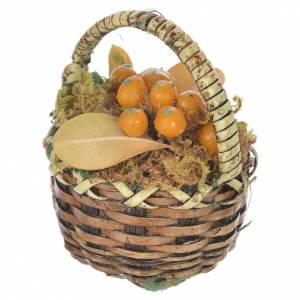 Panier avec fruits oranges crèche pour santons 20-24 cm s2