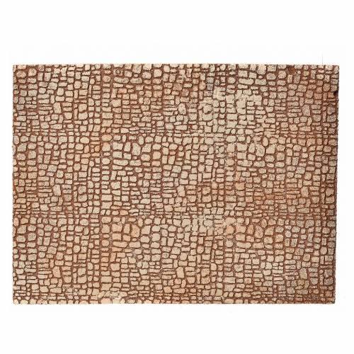 Panneau en liège pour crèche imitation pierres 24,5x33cm s1