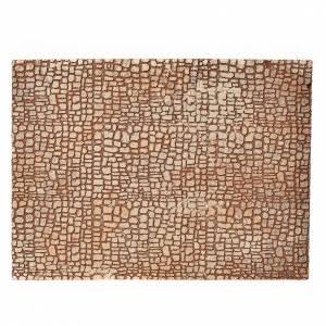 Sfondi presepe, paesaggi e pannelli: Pannello sughero presepe disegno pietra 24,5x33 cm