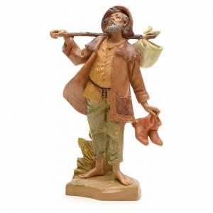 Figuras del Belén: Pastor con fardo 19 cm Fontanini