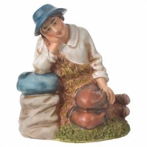 Pastor meditando para belenes de 30cm, resina s4
