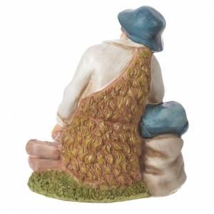 Pastor meditando para belenes de 30cm, resina s6