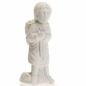 Pesebre Monasterio de Belén: Pastor para Pesebre de Otoño de piedra blanca