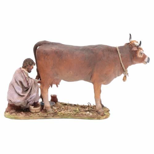 Pastor que ordeña la vaca 13 cm Angela Tripi s1