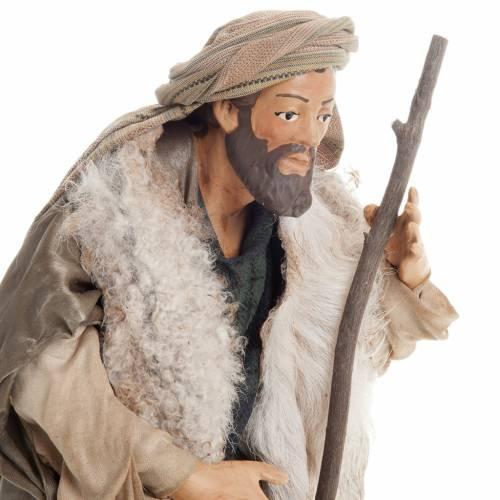 Pastore con bastone 30 cm presepe Napoli s5