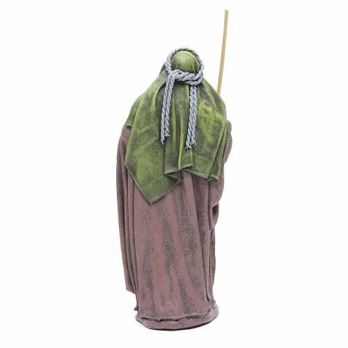 Pastore con bisaccia terracotta presepe 17 cm s2