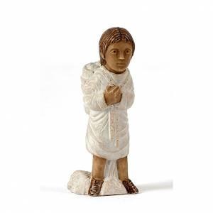 Presepe Bethléem: Pastore con gerla Presepe d'Autunno bianco dipinto