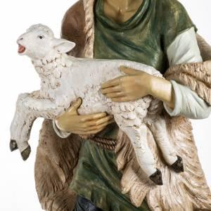 Statue per presepi: Pastore con pecora 180 cm resina Fontanini