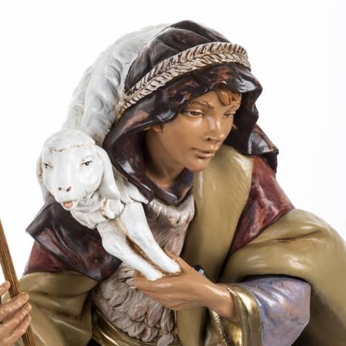 Pastore con pecora presepe Fontanini 45 cm s2
