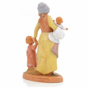 Pastorella con 2 bambini Fontanini 12 cm s3