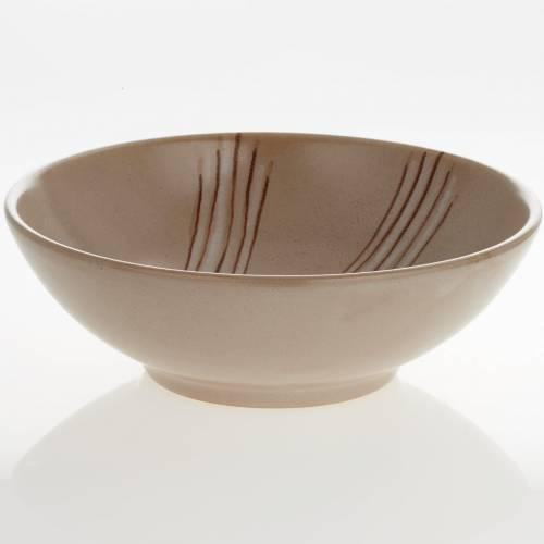 Patena de cerámica  beis, 20cm s3