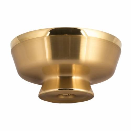 Patène eucharistique satinée dorée diam. 14 s3