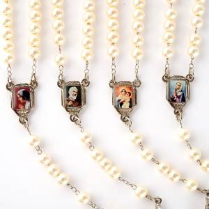 Pearled rosary with images (14 diam) s6