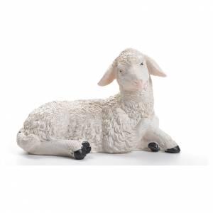 Animali presepe: Pecora resina presepe 30/40 cm
