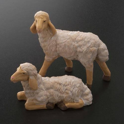 Pecore presepe plastica marrone 4 pz. 20 cm s2