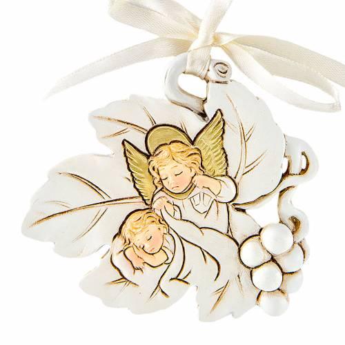 Pendant Angel leaf shaped 7cm s1