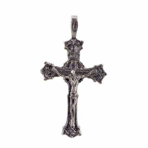 Pendant cross 1700 style in sterling silver s1
