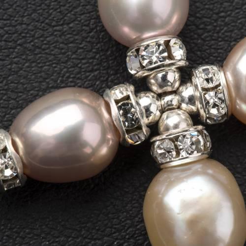 Pendant cross, Swarovski and pearls s4