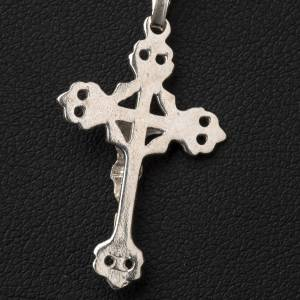 Pendant crucifix in 800 silver, budded and perforated s3