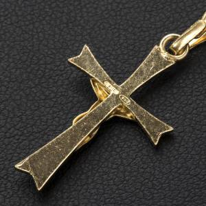 Pendant crucifix in gold-plated silver, pointed s3
