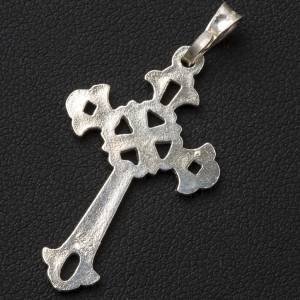 Pendant, perforated cross in silver, Gothic style s3