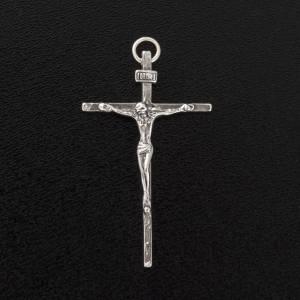 Pendentif crucifix  argent 925 satiné 4.5 cm s3