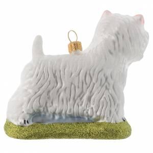 Adornos de vidrio soplado para Árbol de Navidad: Perro Westie Terrieradorno vidrio soplado Árbol de Navidad