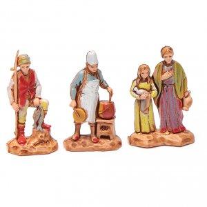 Personaggi 6 pz Presepe 3,5 cm Moranduzzo s2