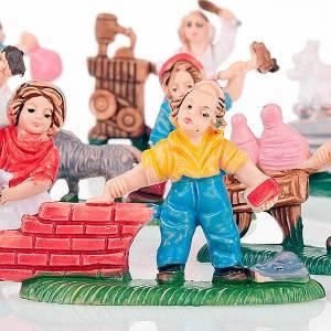 Mestieri vari personaggi colorati 12 pz. 3 cm s3
